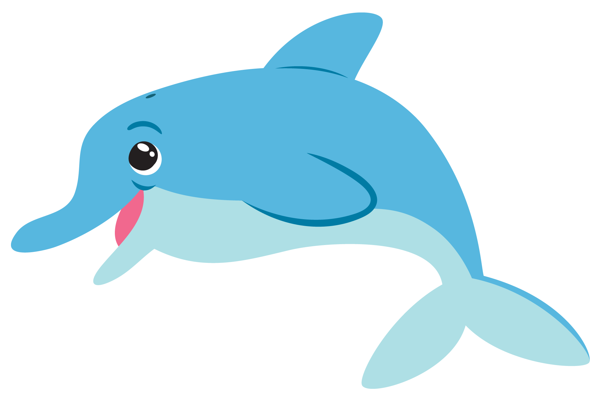 Seahorse clipart cute baby dolphin #1
