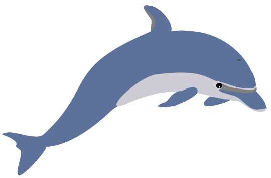 Dolphines clipart Whale size fixed 82k 5