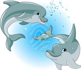 Dolphines clipart Clipart Free two Dolphin happy