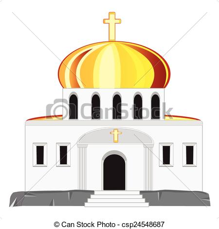 Dome clipart arch Vector dome church with with