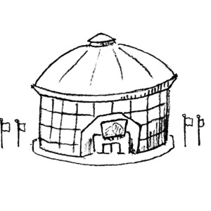 Dome clipart black and white #7