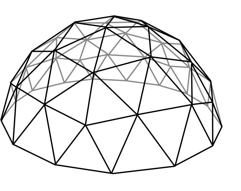 Dome clipart black and white #9