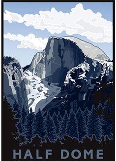 Dome clipart california Serigraph Giclee Half Park Yosemite