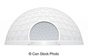 Dome clipart geodescent Of background Dome Geodesic white