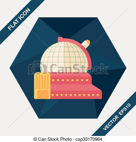 Dome clipart observatory Art with icon flat
