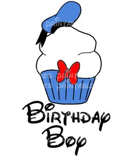 Donald Duck clipart birthday Mouse and Cupcake by Printable