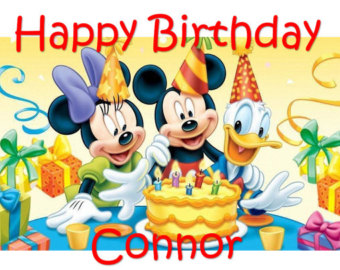 Donald Duck clipart birthday Etsy Minnie Edible Mouse party