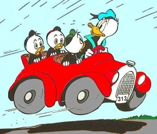 Donald Duck clipart car driving Donald Dewey Louie Duck Huey