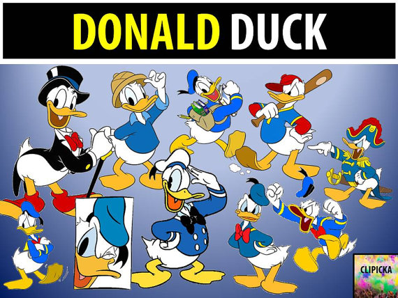Donald Duck clipart donld Mouse INSTANT Graphic Graphic Duck
