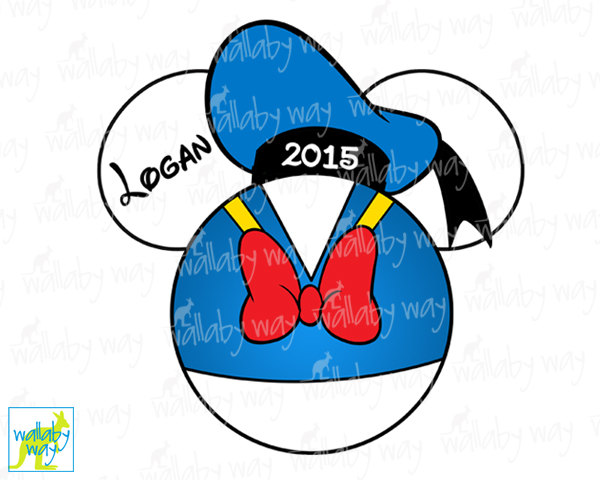 Donald Duck clipart ear Matching 2016 or Mickey On