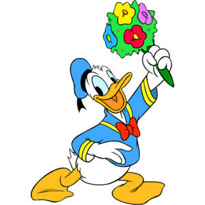 Donald Duck clipart hug Duck Mickey and Friends Disneys