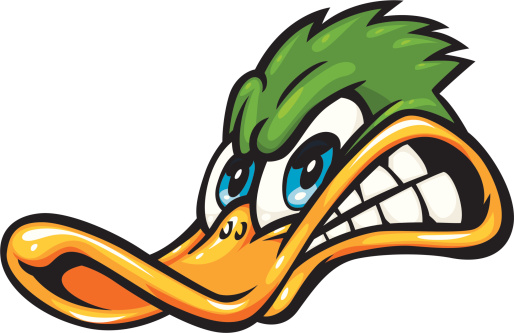 Donald Duck clipart mad  Vector Duck Clip Download