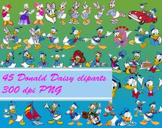 Donald Duck clipart pants  Instant Donald Daisy Clipart