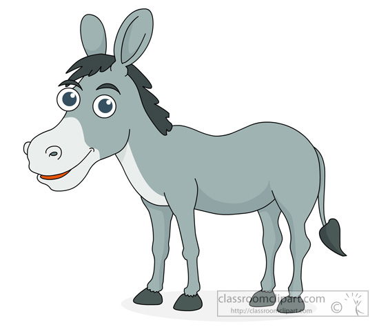 Donkey clipart Clipart clip for donkey standing