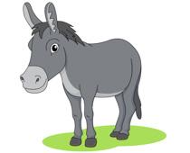 Donkey clipart Illustrations Donkey Size: Clip Art