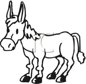 Black & White clipart donkey Art Images Clipart Black And