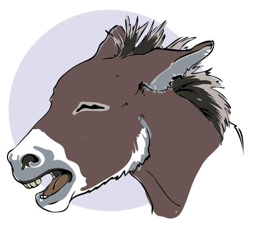 Sad clipart donkey #11