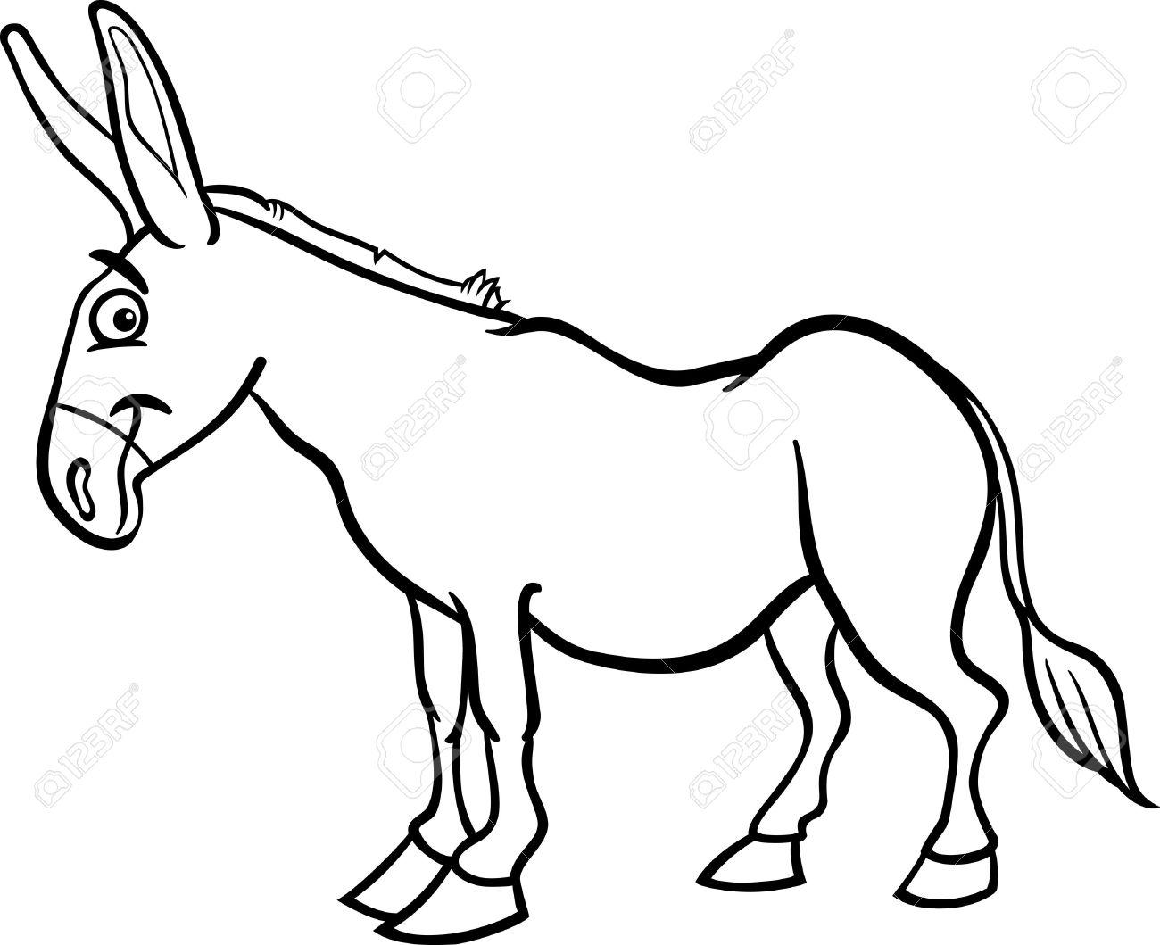 Black & White clipart donkey And cliparts Clipart White Donkey