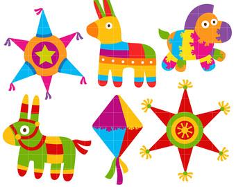 Stars clipart pinata Card Toppers Pinata Clip Etsy