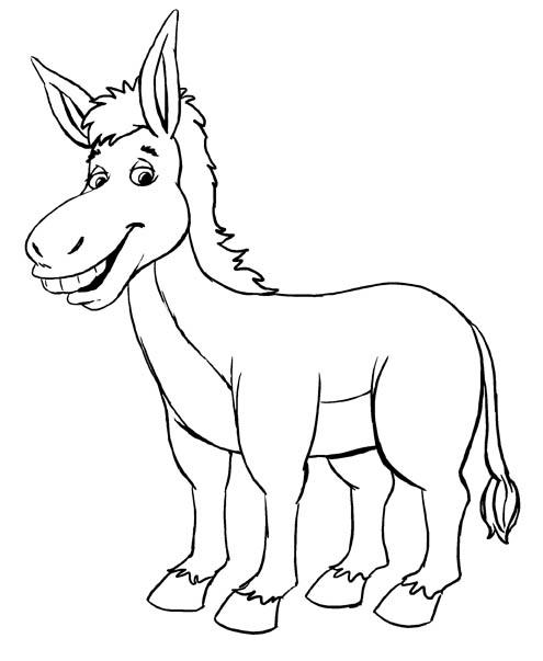 Black & White clipart donkey Jpg Tales Donkey Kids 080689405174