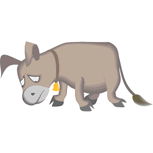 Sad clipart donkey #1