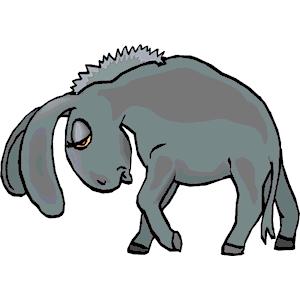 Sad clipart donkey #4