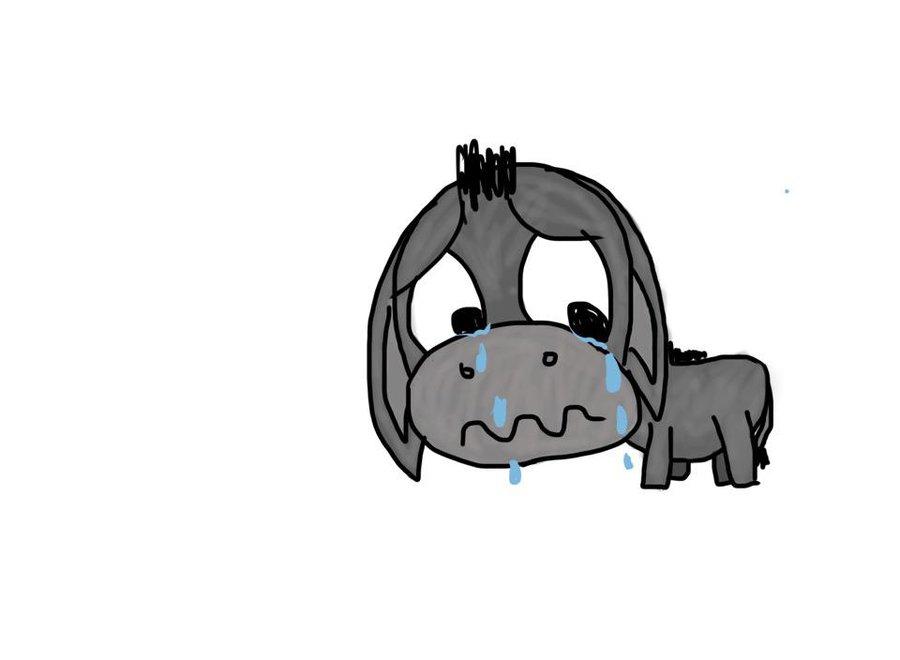 Sad clipart donkey #7