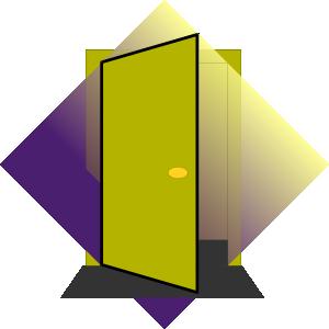 Doorway clipart bedroom door At vector online Art Door