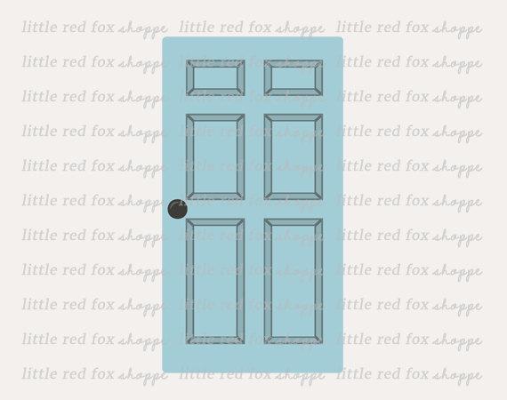Door clipart bedroom door Digital House Wood  This