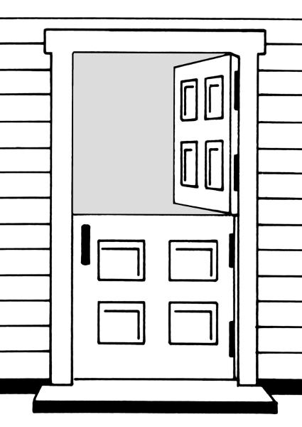 Doorway clipart wood door #2