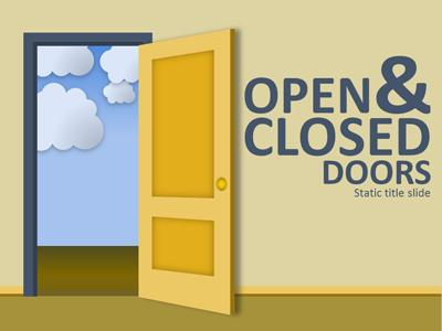 Open clipart closing door Closed PowerPoint & com A