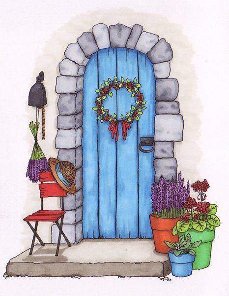 Door clipart cute door #13