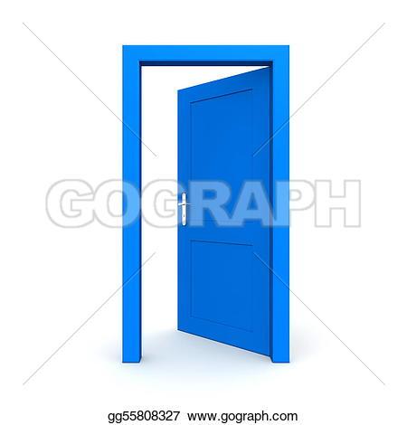 Door Green Open Door Single