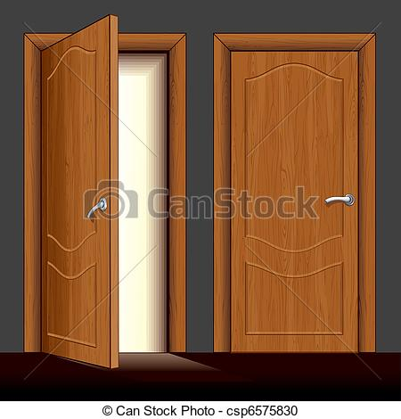 Doorway clipart wooden door #12