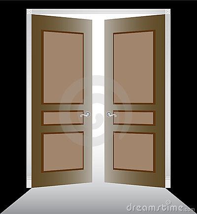 Open Door clipart double door Door & Opening Opening Open