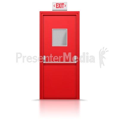 Open Door clipart exit door #1