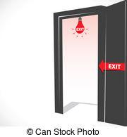 Open Door clipart exit door #4