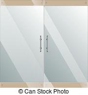 Door clipart glass door Handles handles Glass silver chrome