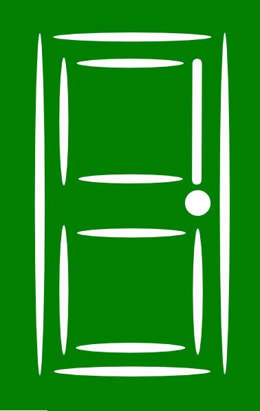 Open Door clipart green Image Clker Clip Download royalty
