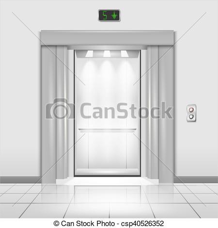 Door clipart office building The Closed in elevator metal