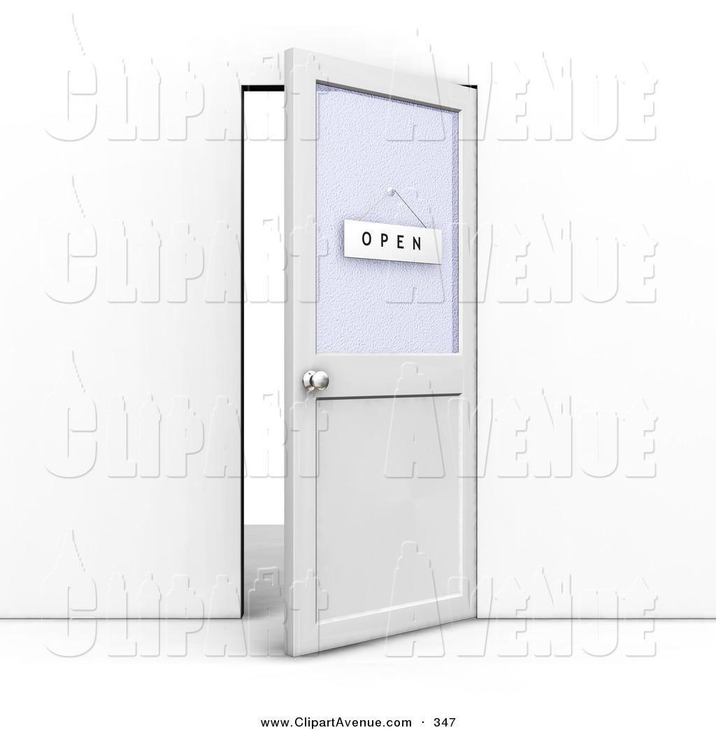 Doorway clipart door ajar With an on of an