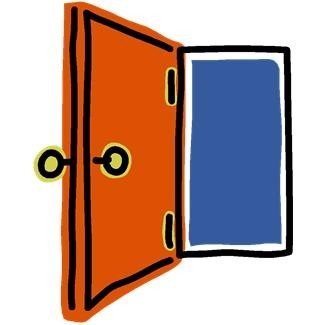 Door clipart open door #14