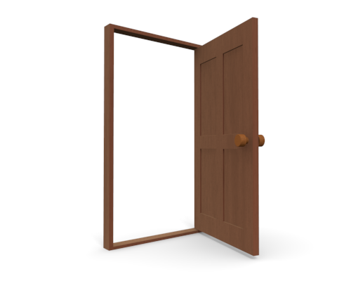 Door clipart open door #12