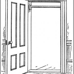 Door clipart open door #11