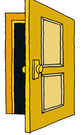 Door clipart open door #15