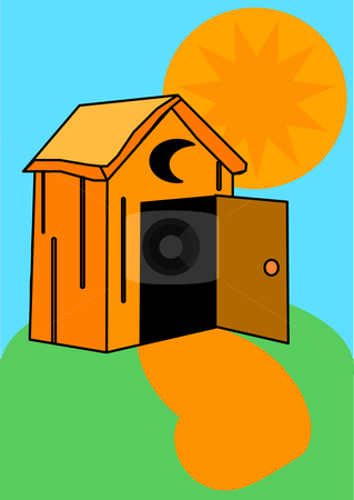 Hosue clipart door open Outhouse stock Outhouse vector
