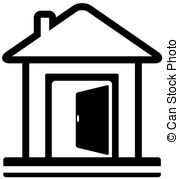 Hosue clipart door open Icon with and clip Door