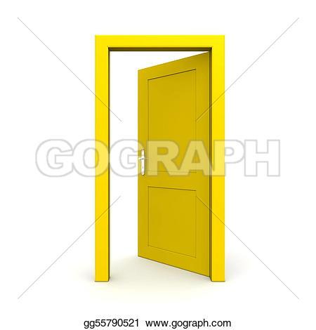 Open Door clipart exit door #2