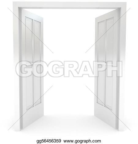 Double Doors Open  Clipart