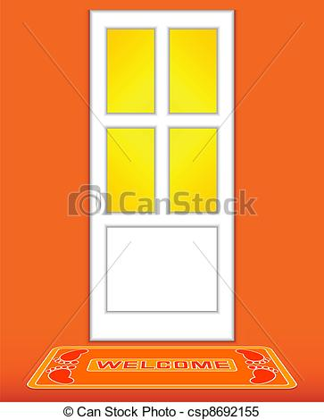 Door clipart orange #6